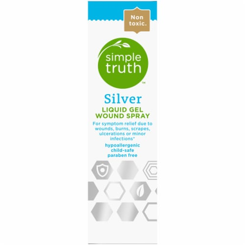 Simple Truth™ Silver Liquid Gel Wound Spray Perspective: left