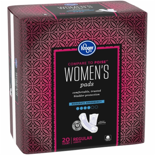 Kroger® Regular Length Moderate Absorbency Pads for Women Perspective: left