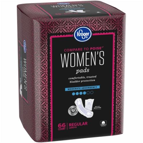 Kroger® Women's Regular Moderate Absorbency Pads Perspective: left