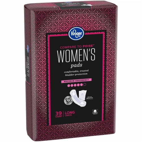 Kroger® Womens Long Maximum Absorbency Pads Perspective: left