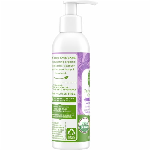 Simple Truth Organic™ Lavender Orange Facial Cream Cleanser Perspective: left