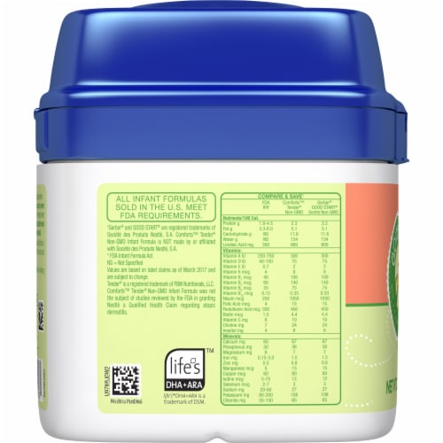Comforts™ Tender® Milk-Based Infant Formula Powder With Iron Perspective: left