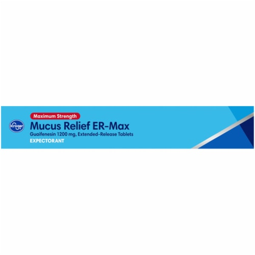 Kroger® Maximum Strength Mucus Relief ER Max Expectorant Tablets 1200mg Perspective: left