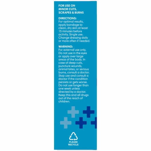Kroger® Advanced Antibacterial Waterproof Bandages Assorted Sizes 20 ct Box Perspective: left