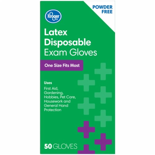 Kroger® Powder-Free Latex Disposable Exam Gloves Perspective: left