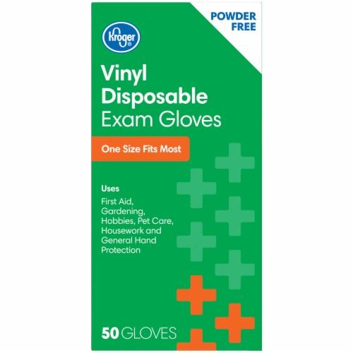 Kroger® Powder-Free Vinyl Disposable Exam Gloves Perspective: left