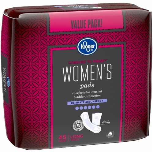 Kroger® Women's Long Ultimate Absorbency Pads Perspective: left
