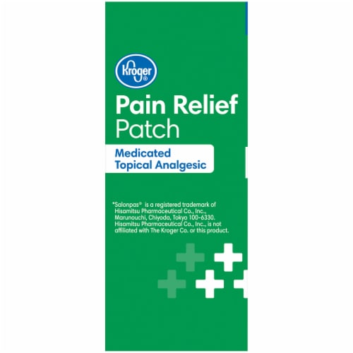 Kroger® Medicated Topical Analgesic Pain Relief Patch Perspective: left