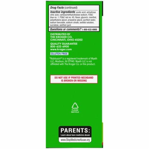 Kroger® Tussin DM Raspberry & Menthol Flavor Cough Suppressant & Expectorant Liquid Perspective: left