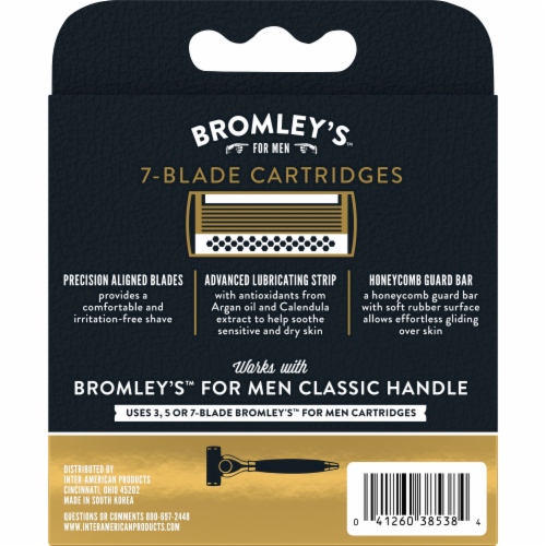 Bromley's™ for Men Smooth Operator 7-Blade Cartridges Perspective: left