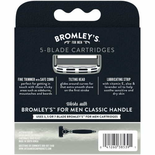 Bromley's™ For Men Keepin' It Trimmed 5-Blade Cartridges Perspective: left