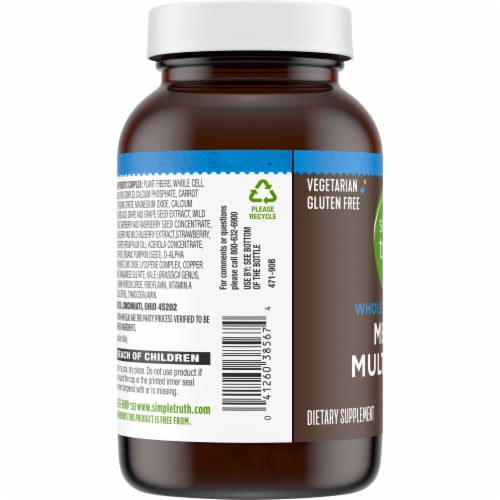 Simple Truth™ Men's Whole Food Based Multi Caps Bottle Perspective: left