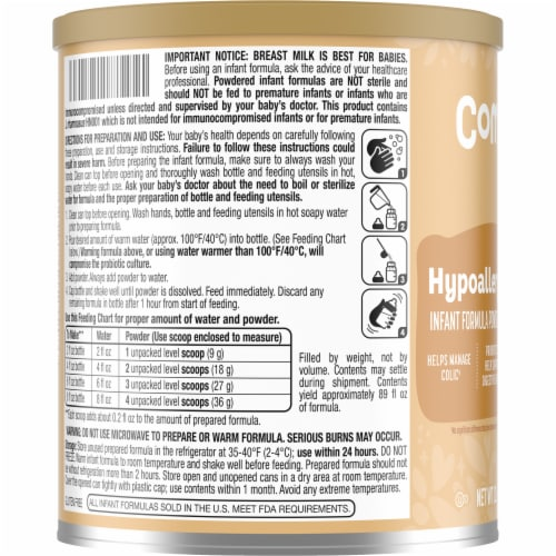 Comforts™ Hypoallergenic Infant Formula Powder with Iron Perspective: left