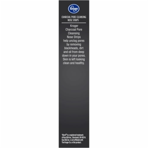 Kroger® Cleanse Charcoal Pore Cleansing Nose Strips Perspective: left