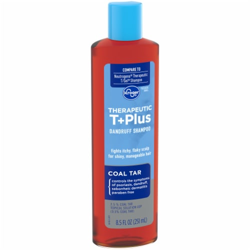Kroger® Therapeutic T+Plus Coal Tar Dandruff Shampoo Perspective: left