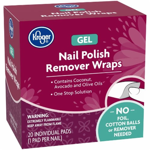 Kroger® Gel Nail Polish Remover Wraps 20 Count Perspective: left
