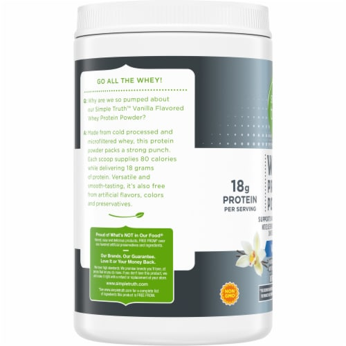 Simple Truth™ Vanilla Whey Protein Powder Perspective: left