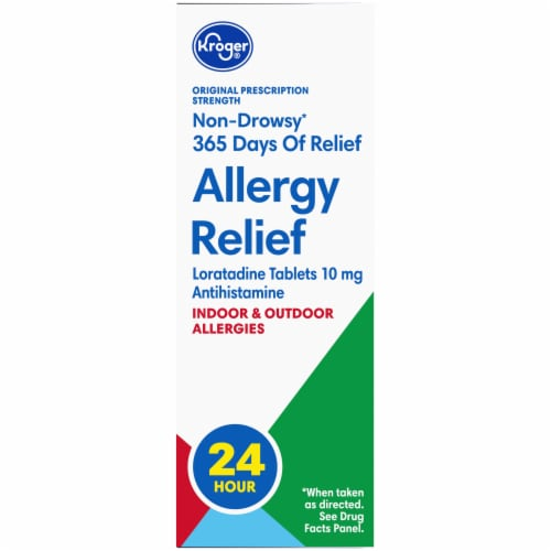 Kroger® Non-Drowsy Allergy Relief Tablets Perspective: left