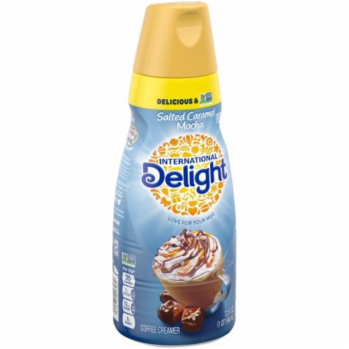 International Delight Salted Caramel Mocha Coffee Creamer Perspective: left