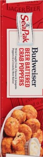 SeaPak Budweiser Beer Battered Crab Poppers Perspective: left