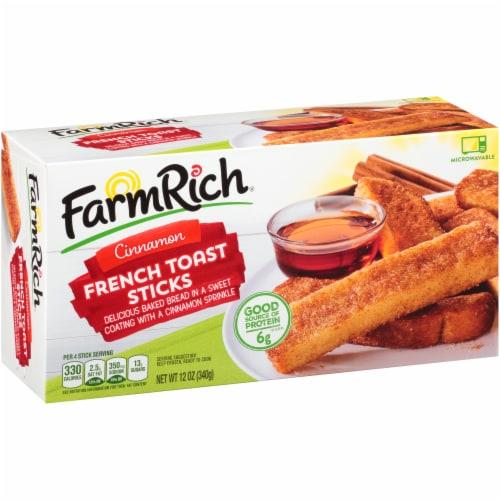 Farm Rich Cinnamon French Toast Sticks Perspective: left