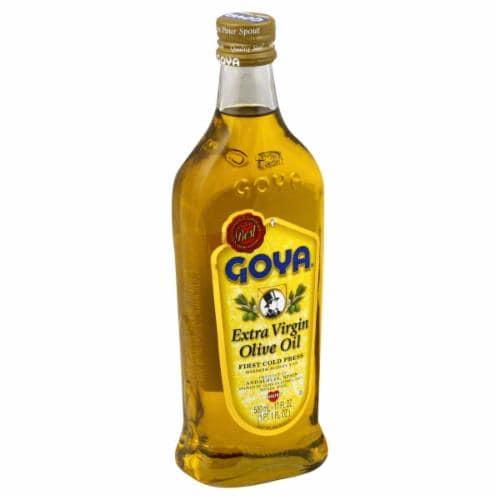 Goya Extra Virgin Olive Oil Perspective: left