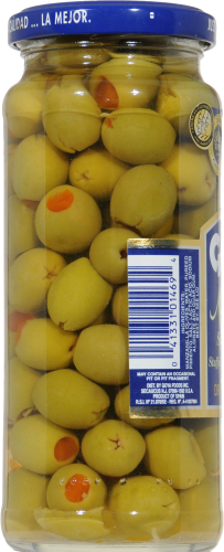 Goya Manzanilla Spanish Olives Stuffed with Minced Pimientos Perspective: left
