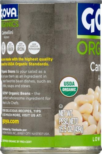 Goya Organics Low Sodium Cannellini Beans Perspective: left