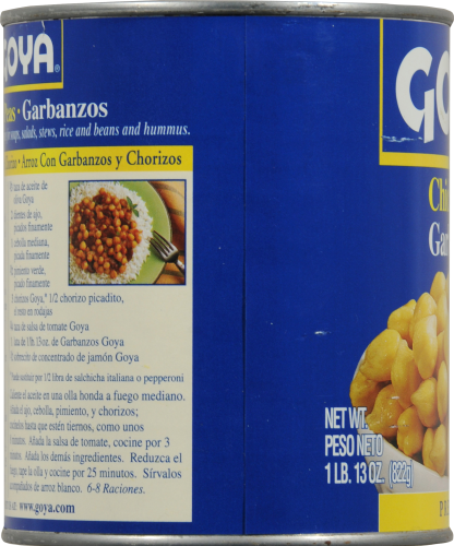 Goya Chick Peas Perspective: left
