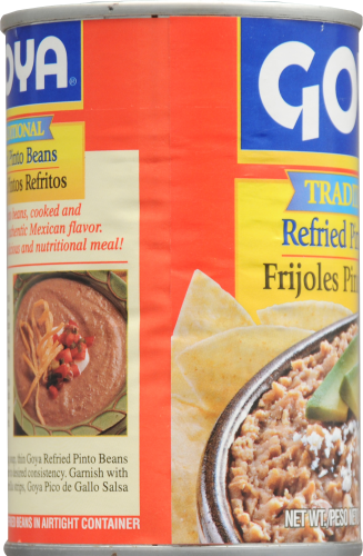 Goya Refried Pinto Beans Perspective: left