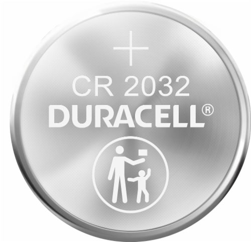 Duracell 2032 Lithium Coin Battery Perspective: left