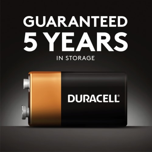 Duracell 9V Alkaline Battery Perspective: left