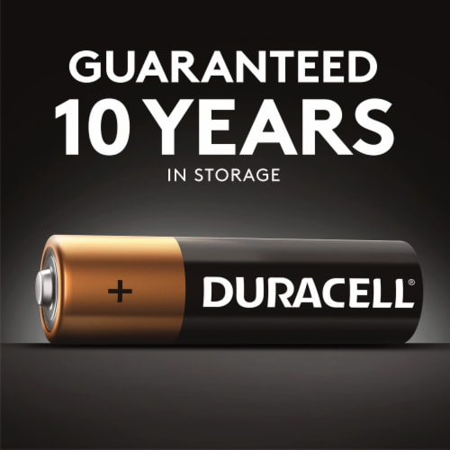 Duracell D Alkaline Batteries Perspective: left