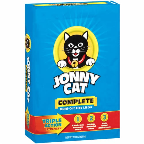 Jonny Cat Complete Triple Action Multi-Cat Clay Litter Perspective: left