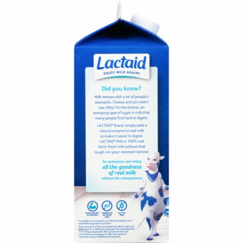 Lactaid Lactose Free 2% Reduced Fat Milk Perspective: left