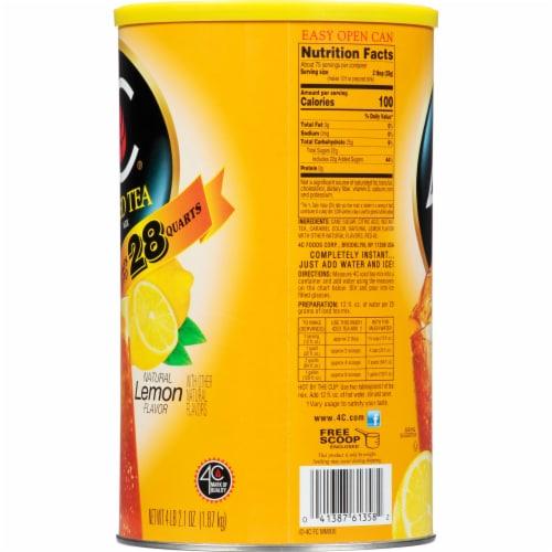 4C Instant Lemon Iced Tea Mix Perspective: left