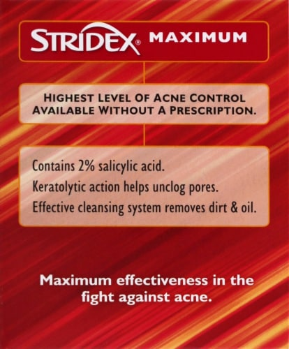 Stridex Maximum Soft Touch Acne Control Pads 90 Count Perspective: left