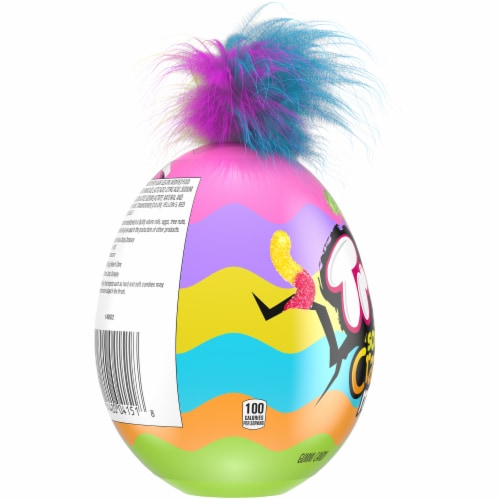 Trolli Sour Brite Mini Crawlers Crazy Hair Puzzle Egg Perspective: left