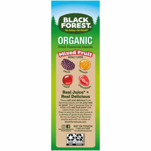 Black Forest Organic Mixed Fruit Flavored Snacks 24 Count Perspective: left