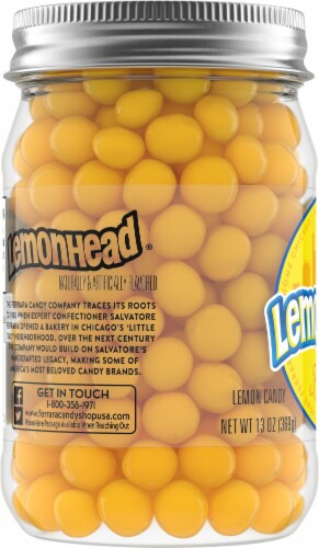 Lemonhead Lemon Candy Jar Perspective: left