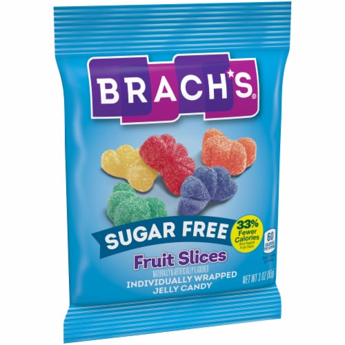 Brach's® Sugar Free Fruit Slices Jelly Candy Perspective: left
