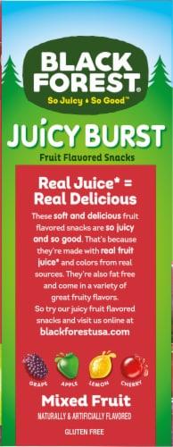 Black Forest® Juicy Burst Mixed Fruit Snacks Perspective: left