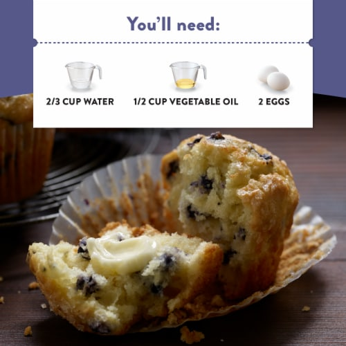 Krusteaz Wild Blueberry Muffin Mix Perspective: left