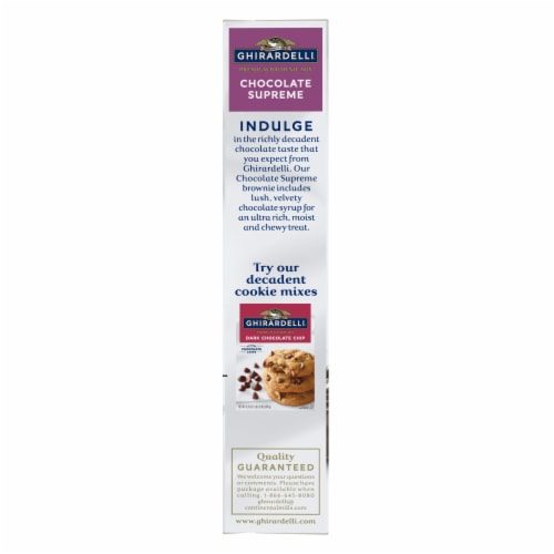 Ghirardelli Chocolate Supreme Premium Brownie Mix Perspective: left