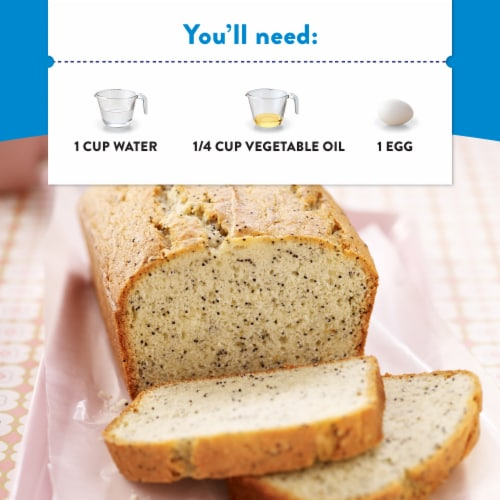 Krusteaz Almond Poppy Seed Muffin Mix Perspective: left