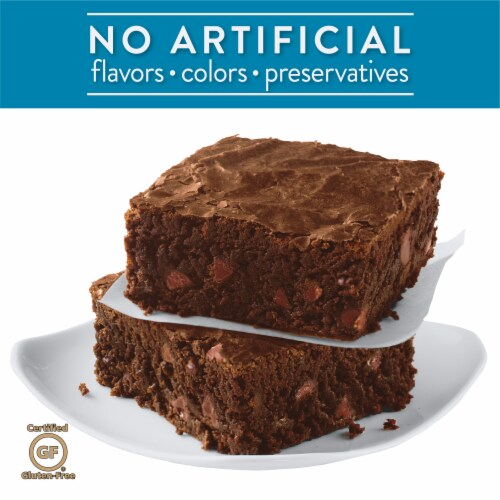 Krusteaz Gluten Free Double Chocolate Brownie Mix Perspective: left