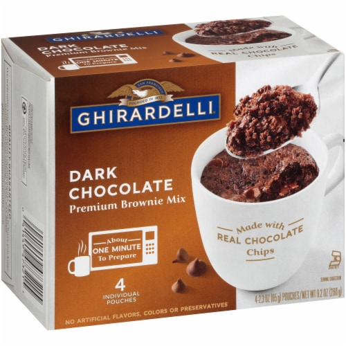 Ghirardelli Dark Chocolate Premium Brownie Mix Perspective: left