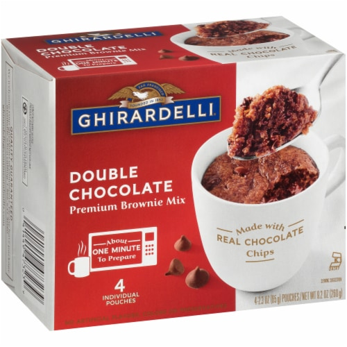 Ghirardelli Double Chocolate Premium Brownie Mix Perspective: left