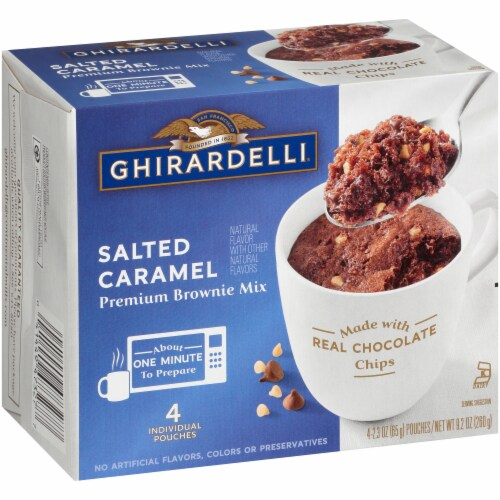 Ghirardelli Salted Caramel Premium Brownie Mix Perspective: left