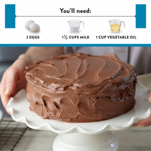 Krusteaz Gluten Free Chocolate Cake Mix Perspective: left